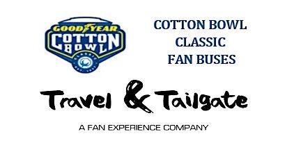 2019 Cotton Bowl  Transportation - Fan Bus Transportation to AT&T Stadium & Tailgates