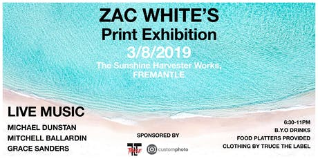Zac White's Print Launch - With Live Music tickets