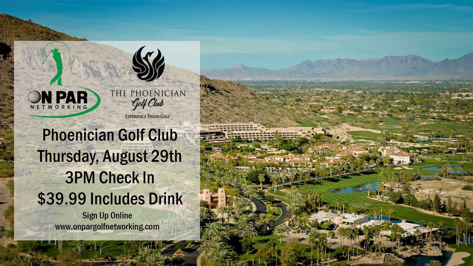On Par Golf Networking Phoenician August Event