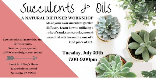 Janet's Succulents and Oils Party!!!