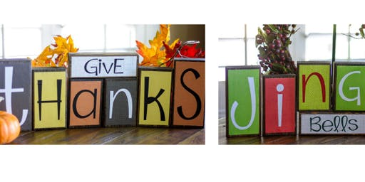 Give Thanks ~ Jingle Bells Reversible Blocks Workshop