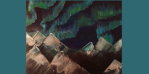 Brushes & Brews - Northern Lights
