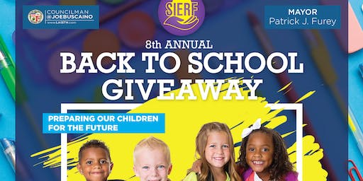 SIERF's 8th Annual Back to School Giveaway