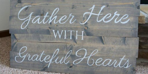 Paint Your Own Slat Wood Sign or Personalized Sign Workshop