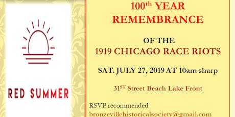 REMEMBRANCE - 1919 Chicago Race Riots tickets