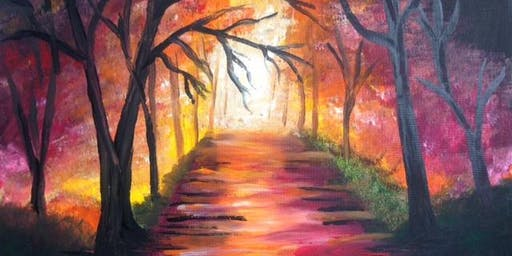 Paint & Sip with Dinner Burger & Pint Deal $22 special offer