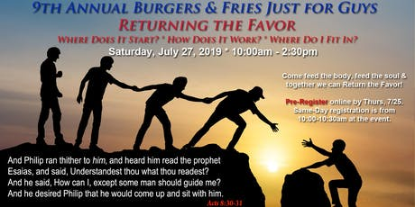 9th Annual Burgers & Fries Just for Guys  tickets