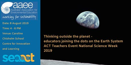 Thinking outside the planet - teachers joining the dots on our Earth System tickets