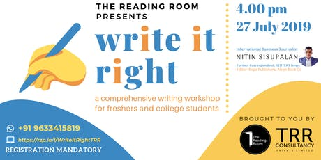 Write It Right — Writing Workshop for Freshers  tickets
