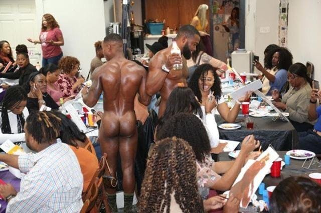 Chicago Exotic Paintings Thirsty Thursday Sip & Paint male models