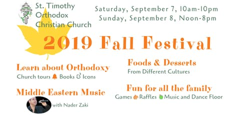 St. Timothy Orthodox  Christian Church 2019 Fall Festival tickets