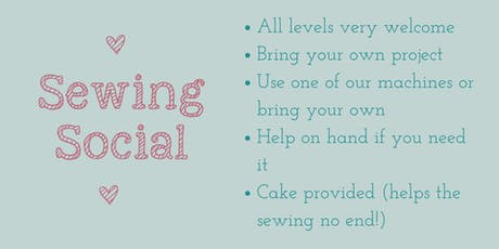 August Sewing Social tickets