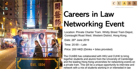 CUABS Careers in Law Networking (HK) tickets