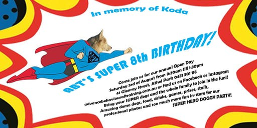 ABT'S OPEN DAY AND DOGGY PARTY!