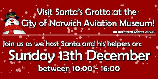 Father Christmas lands at Norwich Aviation Museum 2020!