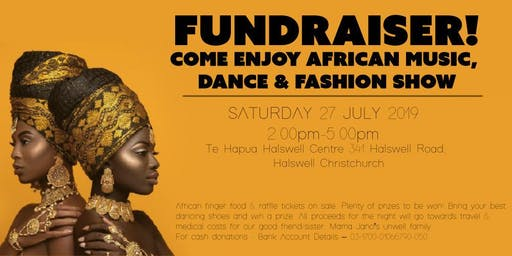 African Music, Dancing & Fashion Show.  Lots of Fun