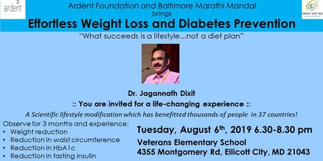 Effortless Weight-Loss and Diabetes Prevention by Dr. Dixit tickets