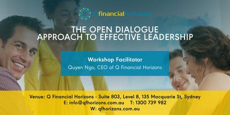 THE OPEN DIALOGUE APPROACH TO EFFECTIVE LEADERSHIP  tickets