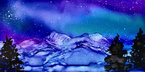 Alcohol Ink Workshop - Aurora Borealis
