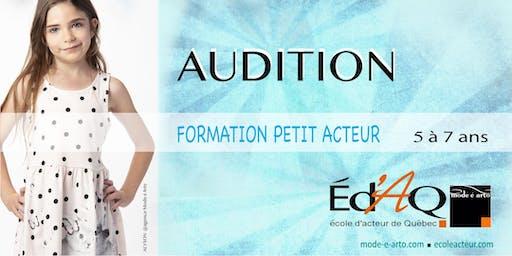 Audition Petit Acteur - École d'acteur de Québec