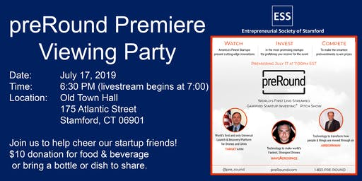 Viewing party for preRound premiere on July 17