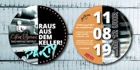 Raus aus dem Keller! Party mit Flohmarkt, Musik & Mehr Tickets