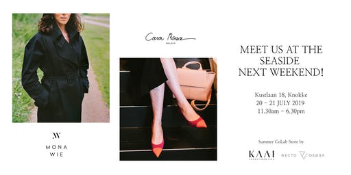Cara Rosa, MONA WIE, KAAI and Recto Verso in Knokke on 20 & 21 July