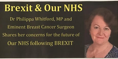 Dr Philippa Whitford Shares her Concerns for our NHS following BREXIT tickets