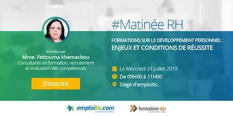 Matinée RH: Formations sur le développement personnel : Enjeux et réussite billets