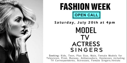 Fashion Week Open Call & Talent Casting