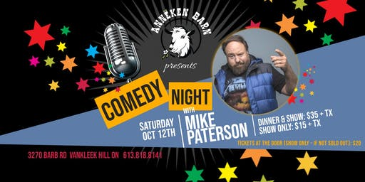 Comedy Night with MIKE PATERSON