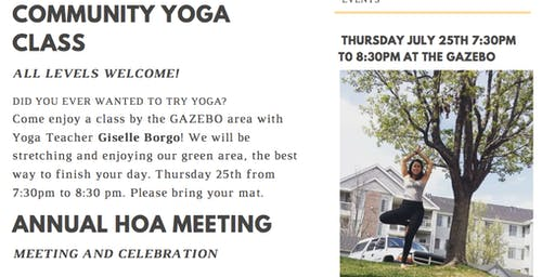 Community Yoga event
