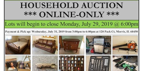 ONLINE-ONLY AUCTION - pick up in Morris, IL tickets