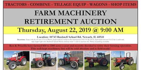 FARM MACHINERY RETIREMENT AUCTION tickets