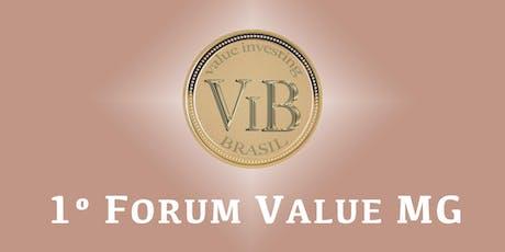 Forum Value Minas Gerais 2019 ingressos