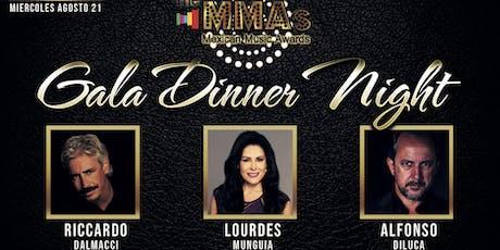 Cena de Gala The MMAs Mexican Music Awards 2019 tickets