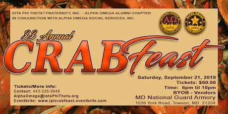 33rd Annual Alpha Omega Crab Feast tickets