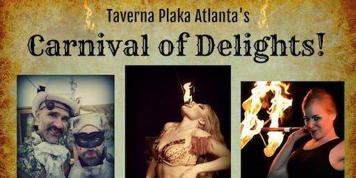 Carnival of Delights at Taverna Plaka--A Benefit Show for Eric + Nieves