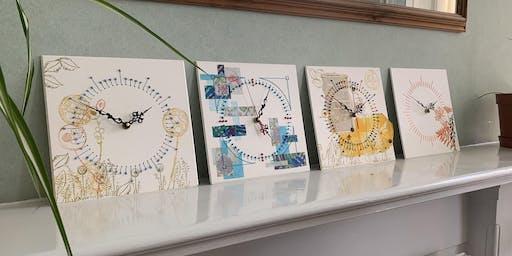 Mixed Media Clock