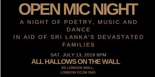 Open Mic Night for Sri Lanka - POST EVENT DONATIONS!