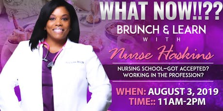 Brunch & Learn with Nurse Haskins  tickets