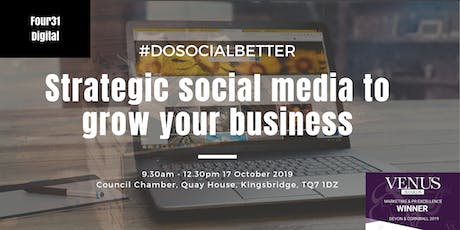 Strategic Social Media to Grow Your Business tickets