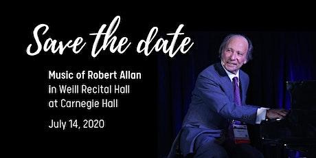 Robert Allan in Weill Recital Hall at Carnegie Hall tickets