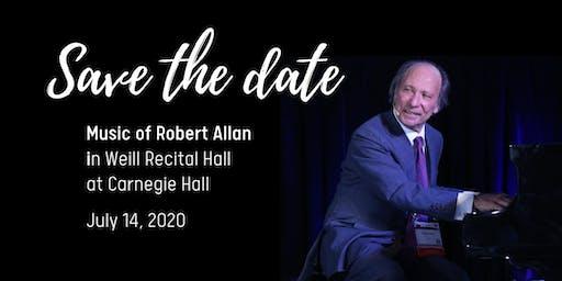 Robert Allan in Weill Recital Hall at Carnegie Hall