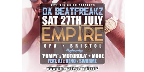 EMPIRE Saturdays x Nite Vision present 'Da Beatfreakz' • 27.08.19 tickets