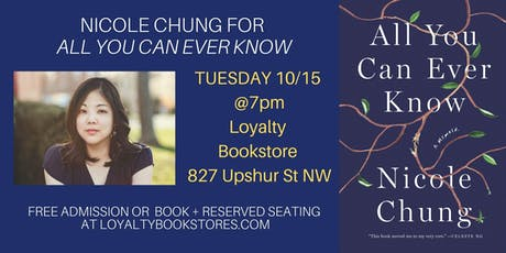 Nicole Chung for the Paperback Release of All You Can Ever Know tickets