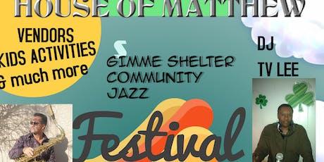 "2019 ""Gimme Shelter"" Community  Jazz Festival tickets"