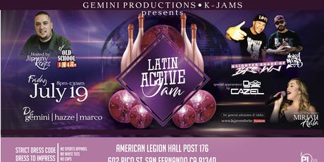 Latin Active Jam tickets