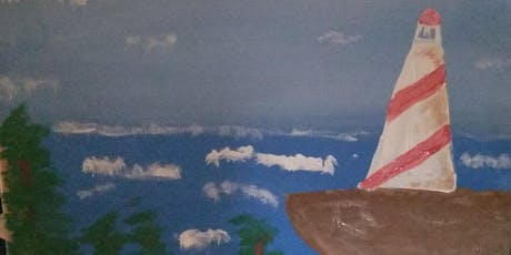 """Pour & Paint """"Lighthouse at sea"""" tickets"""