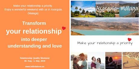 Transform your relationship into deeper understanding and love (Workshop) entradas